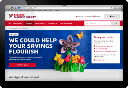 Chelsea Building Society Screenshot