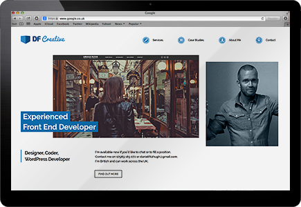 WordPress Portfolio Screenshot